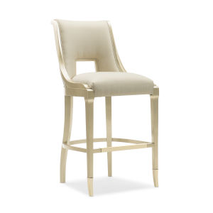 Caracole Classic Gold Bullion Paint and Beige In Good Taste Bar Stool