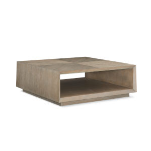 Caracole Classic Beige Boxcar Cocktail Table