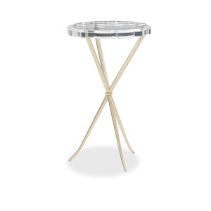 Caracole Classic Gold In A Tizzy Side Table