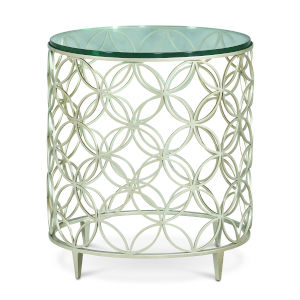 Classic Silver Bubbles End Table