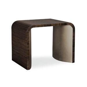 Modern Streamline Brown End Table