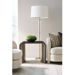 Modern Streamline Brown End Table