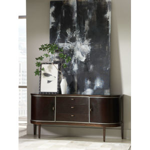 Modern Streamline Brown Sideboard