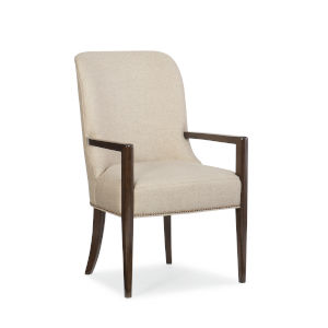 Modern Streamline Beige Streamline Arm Chair