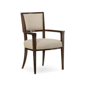 Modern Streamline Beige Moderne Arm Chair