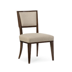 Modern Streamline Beige Moderne Side Dining Chair