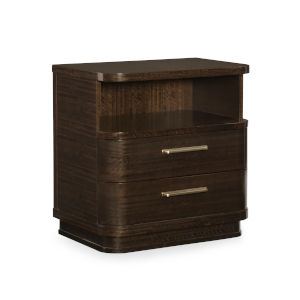 Modern Streamline Brown Streamline Nightstand