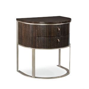 Modern Streamline Brown Moderne Nightstand