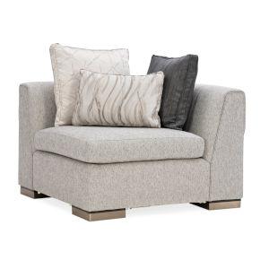 Modern Edge Ivory Corner Sofa