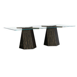 Modern Edge Brown Dining Table
