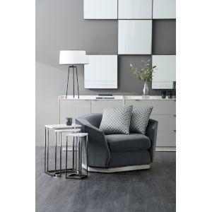 Modern Expressions London Fog Swivel Chair