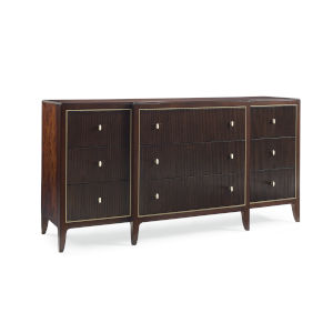 Classic Brown in the Groove Dresser