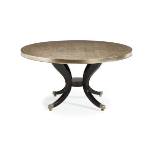 Classic Gold Center of Attention Dining Table