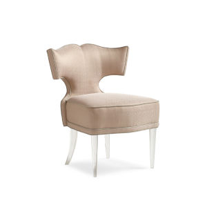 Classic Beige Facet-Nating Chair