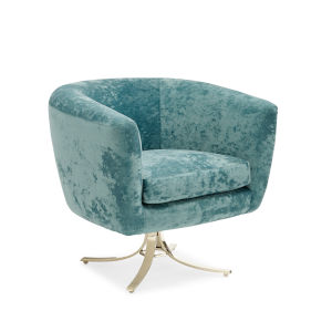 Classic Turquoise Twirl Around Chair