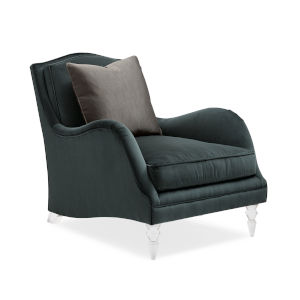 Classic Black Fancy Footwork Chair