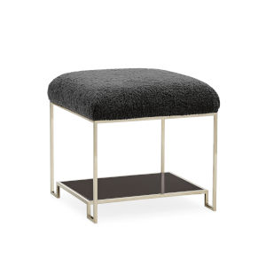 Classic Black Thoroughly Modern Ottoman