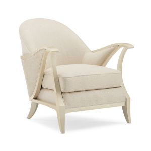 Caracole Classic Pearl and Beige Curtsy Chair