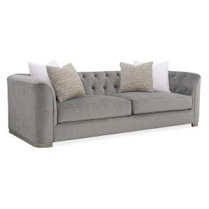 Classic Gray Tuft Guy Sofa