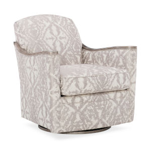 Classic Gray Around We Go Swivel Chair