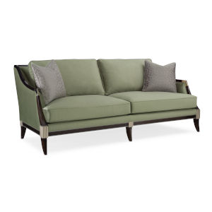 Classic Gray Empress Upholstered Sofa