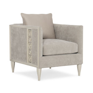 Caracole Classic Soft Silver and Gray Fret Knot Chair