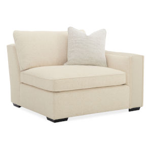 Classic Beige Back On Track RAF Chair Sectional Sofa