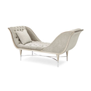 Classic Gray Both Ends Meet Chaise Lounge