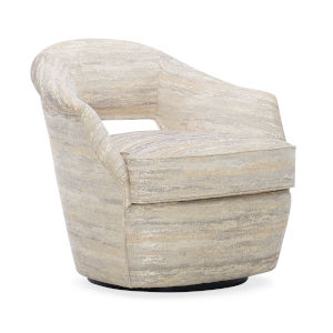 Caracole Classic Beige and Black Loop Me In Chair