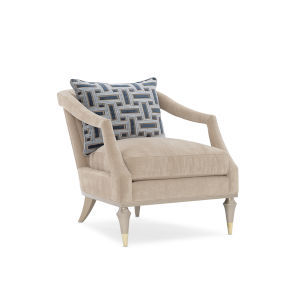 Caracole Classic Blush Taupe and Pink Living Large Chair