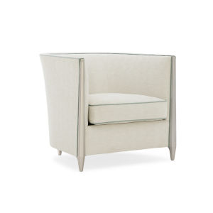 Caracole Classic Silver Shadow and Beige Piping Hot Chair