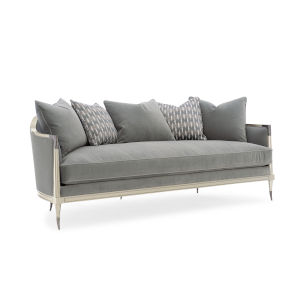 Caracole Classic Gray and Soft Silver Splash of Flash Sofa