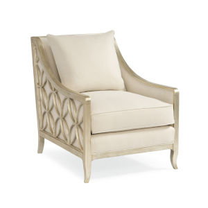 Classic Ivory Social Butterfly Silver Chair