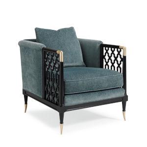 Classic Turquoise Lattice Entertain You Chair