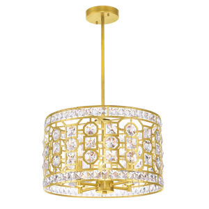Belinda Champagne Four-Light Chandelier with K9 Clear Crystal