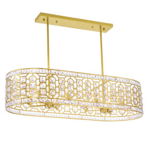 Belinda Champagne Eight-Light Chandelier with K9 Clear Crystal