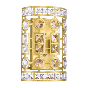Belinda Champagne Two-Light Wall Sconce with K9 Clear Crystal