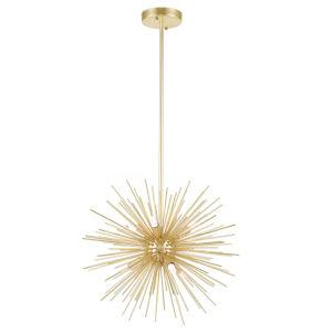 Savannah Gold Leaf Six-Light Chandelier