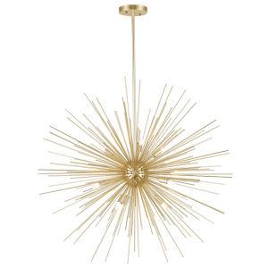 Savannah Gold Leaf Nine-Light Chandelier