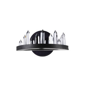 Juliette Black Integrated LED Wall Sconce with K9 Clear Crystal