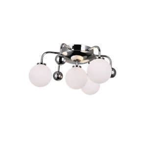 Element Polished Nickel Four-Light Flush Mount