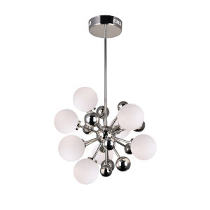 Element Polished Nickel Eight-Light Chandelier