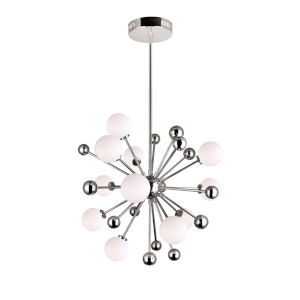 Element Polished Nickel 11-Light Chandelier