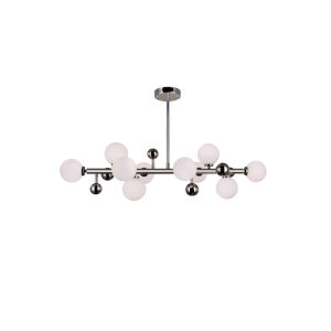 Element Polished Nickel 10-Light Chandelier
