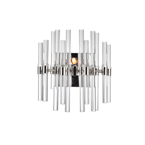 Miroir Polished Nickel Two-Light Wall Sconce