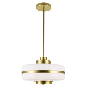 Elementary Pearl Gold One-Light 12-Inch Pendant