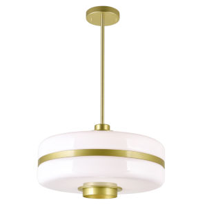 Elementary Pearl Gold One-Light 16-Inch Pendant