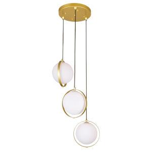 Da Vinci Brass Three-Light LED Pendant
