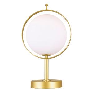 Da Vinci Brass 15-Inch LED Table Lamp
