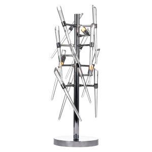 Icicle Chrome Three-Light Table Lamp